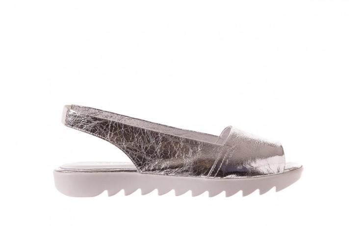 Sandały bayla-163 319-310 614 silver, srebrny, skóra naturalna  - sandały - dla niej - dodatkowe -10%