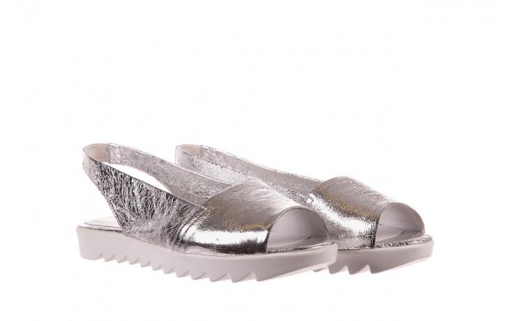 Sandały bayla-163 319-310 614 silver, srebrny, skóra naturalna  - sandały - dla niej - dodatkowe -10% 1