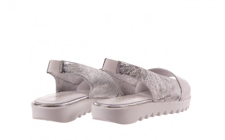 Sandały bayla-163 319-310 614 silver, srebrny, skóra naturalna  - sandały - dla niej - dodatkowe -10% 3