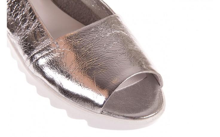Sandały bayla-163 319-310 614 silver, srebrny, skóra naturalna  - sandały - dla niej - dodatkowe -10% 5