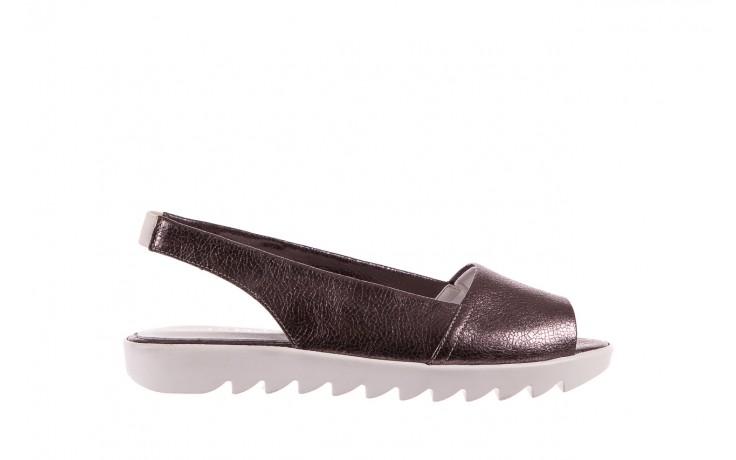 Sandały bayla-163 319-310 627 grey metallic, szary, skóra naturalna