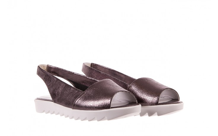 Sandały bayla-163 319-310 627 grey metallic, szary, skóra naturalna 1