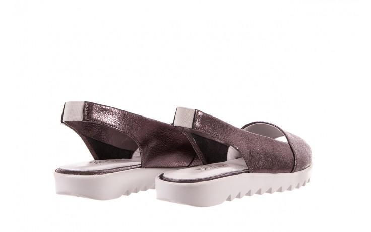 Sandały bayla-163 319-310 627 grey metallic, szary, skóra naturalna 3