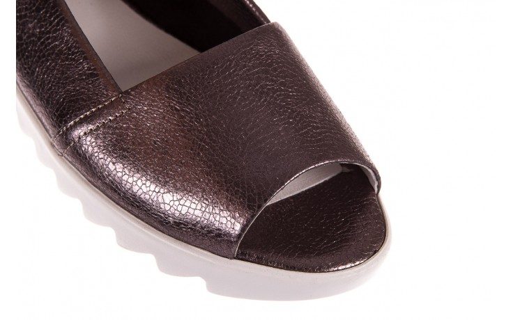 Sandały bayla-163 319-310 627 grey metallic, szary, skóra naturalna 5