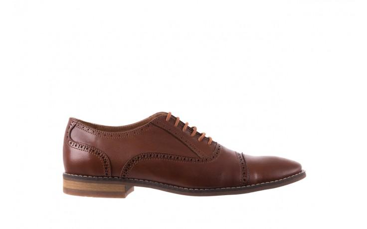 Półbuty bayla-166 m523bb brąz 166001, skóra naturalna - obuwie wizytowe - buty męskie - mężczyzna
