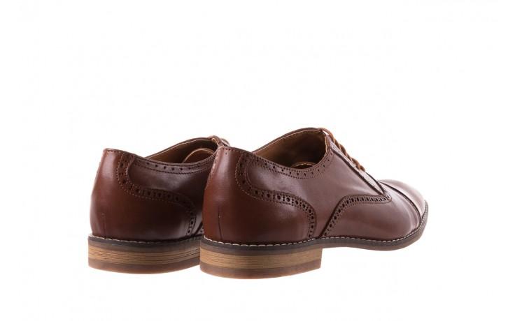 Półbuty bayla-166 m523bb brąz 166001, skóra naturalna - obuwie wizytowe - buty męskie - mężczyzna 3