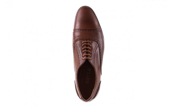 Półbuty bayla-166 m523bb brąz 166001, skóra naturalna - obuwie wizytowe - buty męskie - mężczyzna 4