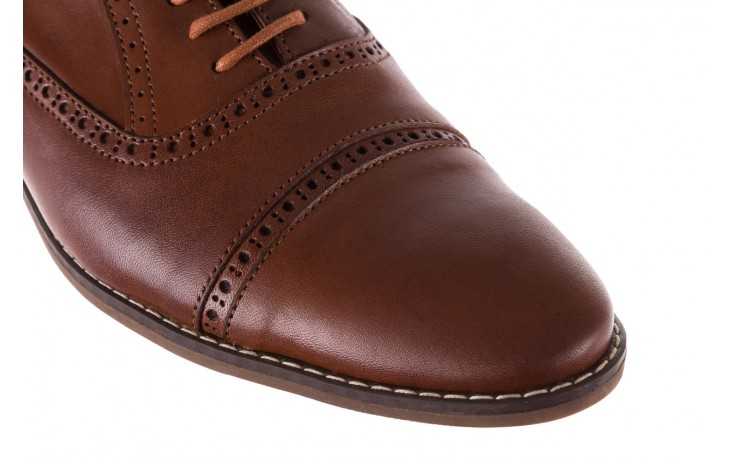 Półbuty bayla-166 m523bb brąz 166001, skóra naturalna - obuwie wizytowe - buty męskie - mężczyzna 5