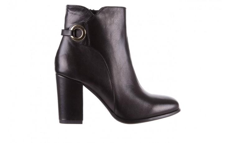 Botki bayla-170 2136 czarne botki, skóra naturalna  - skórzane - botki - buty damskie - kobieta