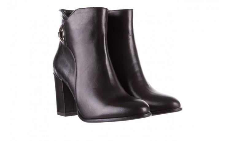 Botki bayla-170 2136 czarne botki, skóra naturalna  - skórzane - botki - buty damskie - kobieta 1