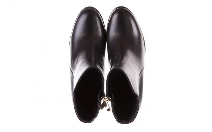 Botki bayla-170 2136 czarne botki, skóra naturalna  - skórzane - botki - buty damskie - kobieta 4