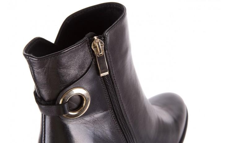 Botki bayla-170 2136 czarne botki, skóra naturalna  - skórzane - botki - buty damskie - kobieta 5