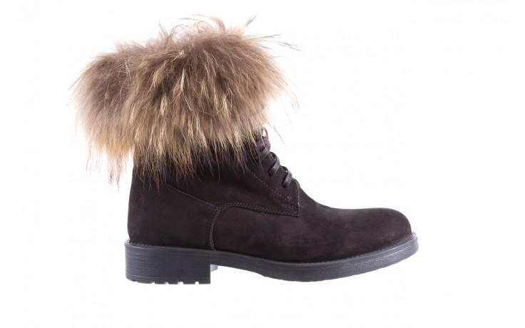 Trzewiki bayla-164 top 17 black 164005, czarny, skóra naturalna  - worker boots - trendy - kobieta