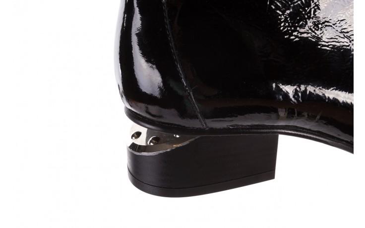 Botki bayla-177 b19118 czarne botki, skóra naturalna lakierowana - kobieta 5