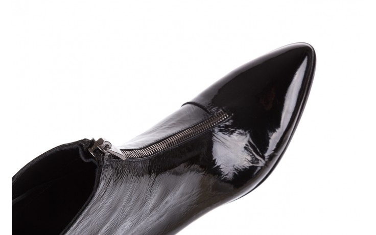 Botki bayla-177 b19118 czarne botki, skóra naturalna lakierowana - jesień-zima 2018 7