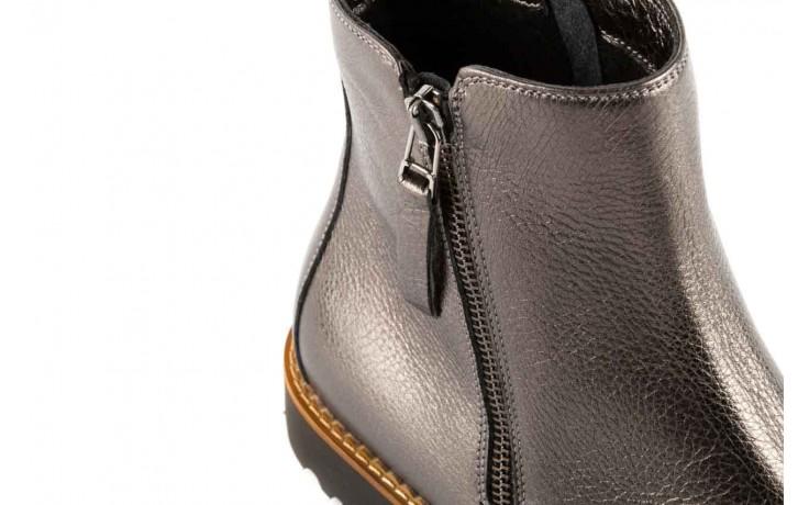 Botki bayla-622 16610 antracyt, braz, skóra naturalna - worker boots - trendy - kobieta 5