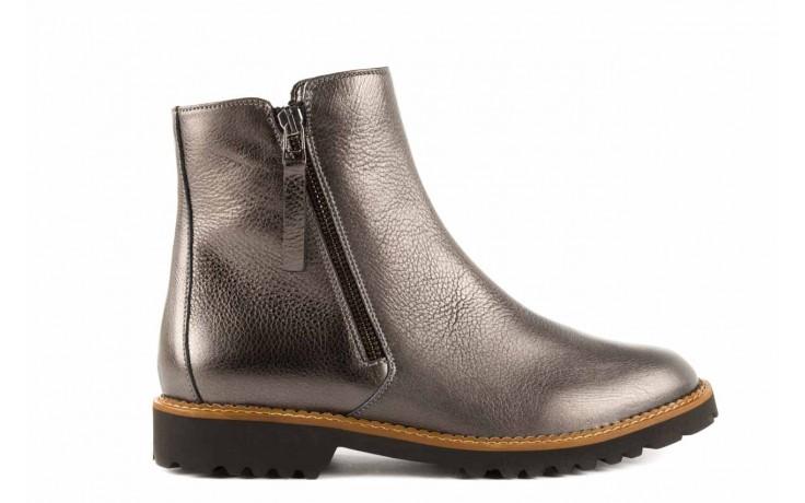 Botki bayla-622 16610 antracyt, braz, skóra naturalna - worker boots - trendy - kobieta