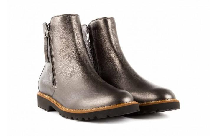 Botki bayla-622 16610 antracyt, braz, skóra naturalna - worker boots - trendy - kobieta 1