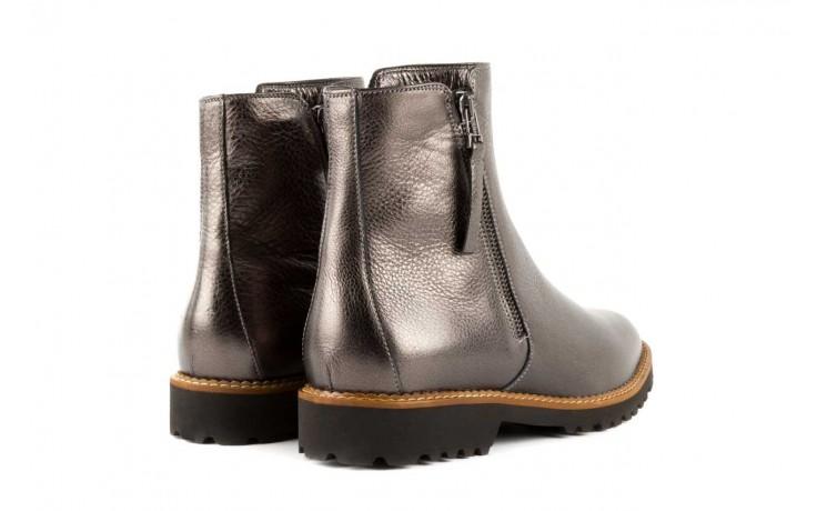 Botki bayla-622 16610 antracyt, braz, skóra naturalna - worker boots - trendy - kobieta 3