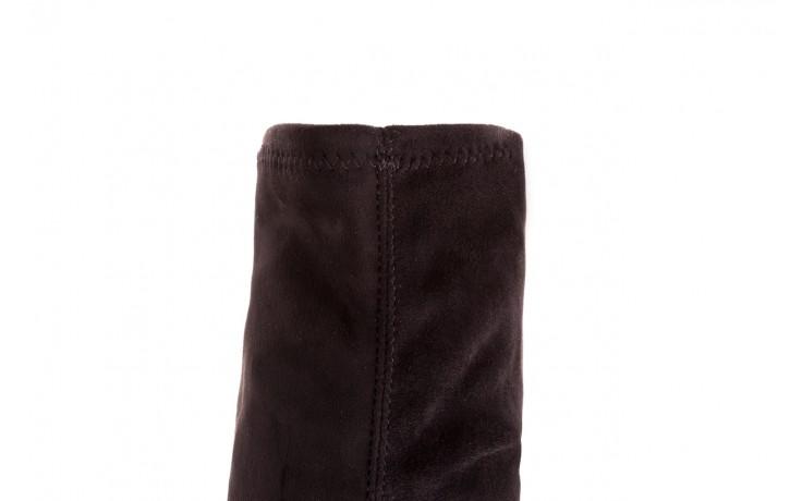 Kozaki bayla-056 9094-730 czarne muszkieterki, materiał - bayla - nasze marki 5