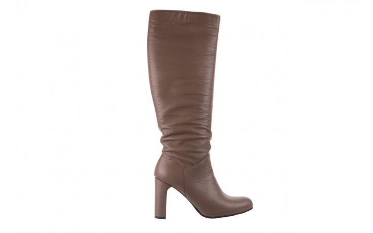 Kozaki bayla-130 4859 ciemnobeżowe, skóra naturalna - kozaki - buty damskie - kobieta