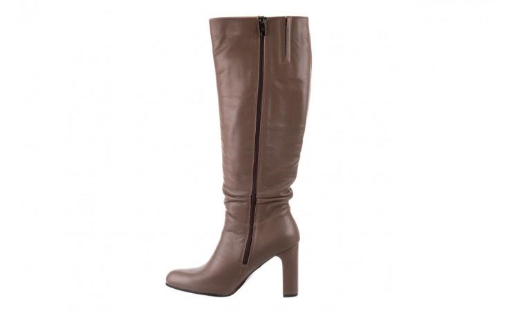 Kozaki bayla-130 4859 ciemnobeżowe, skóra naturalna - kozaki - buty damskie - kobieta 2