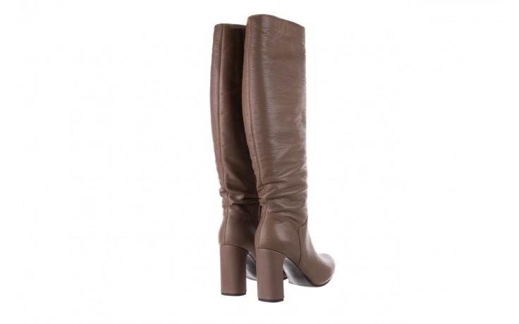 Kozaki bayla-130 4859 ciemnobeżowe, skóra naturalna - kozaki - buty damskie - kobieta 3