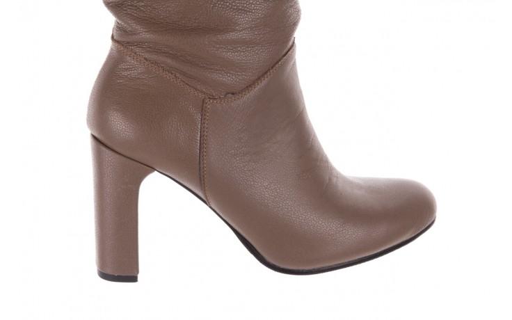 Kozaki bayla-130 4859 ciemnobeżowe, skóra naturalna - kozaki - buty damskie - kobieta 4