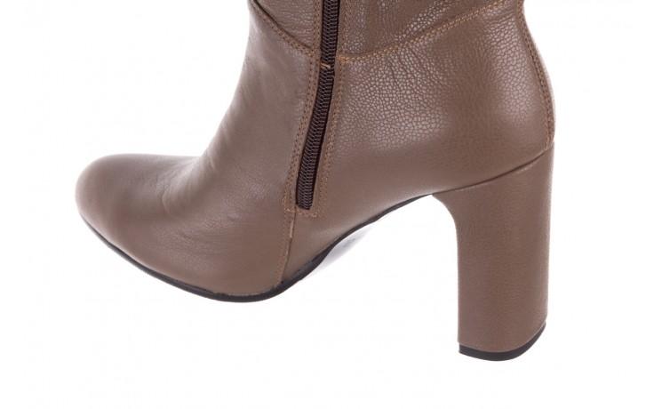 Kozaki bayla-130 4859 ciemnobeżowe, skóra naturalna - kozaki - buty damskie - kobieta 5