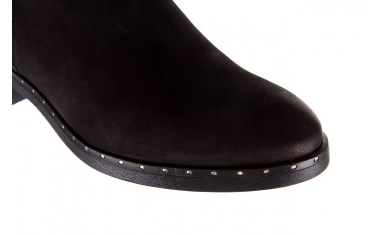 Sztyblety bayla-170 2170 czarne botki, skóra naturalna  - sztyblety - botki - buty damskie - kobieta 5