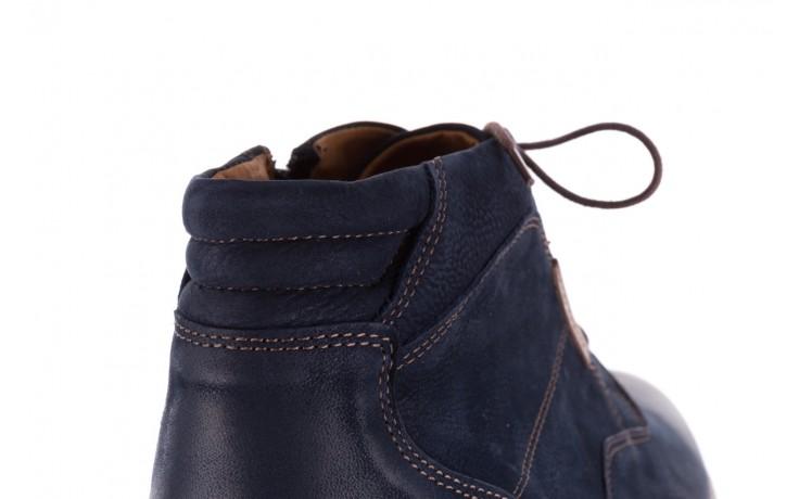 Trzewiki bayla-081 861 granatowe trzewiki, skóra naturalna - trzewiki - buty męskie - mężczyzna 8