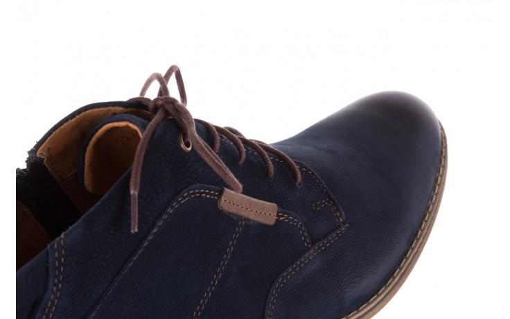 Trzewiki bayla-081 861 granatowe trzewiki, skóra naturalna - trzewiki - buty męskie - mężczyzna 5