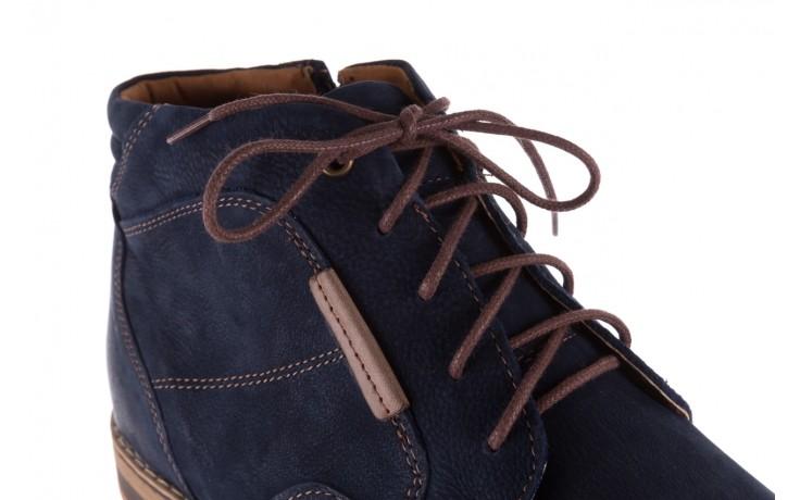 Trzewiki bayla-081 861 granatowe trzewiki, skóra naturalna - trzewiki - buty męskie - mężczyzna 6