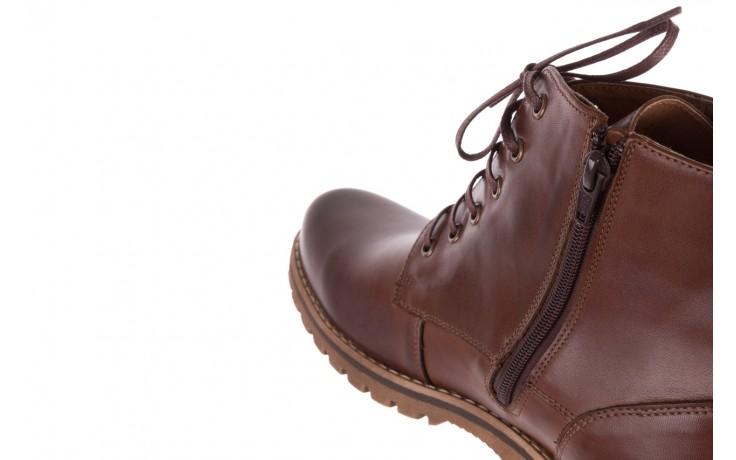 Trzewiki bayla-081 867 brązowe trzewiki, skóra naturalna - trzewiki - buty męskie - mężczyzna 7