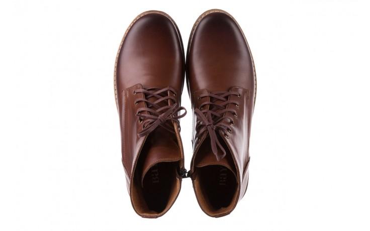 Trzewiki bayla-081 867 brązowe trzewiki, skóra naturalna - trzewiki - buty męskie - mężczyzna 4