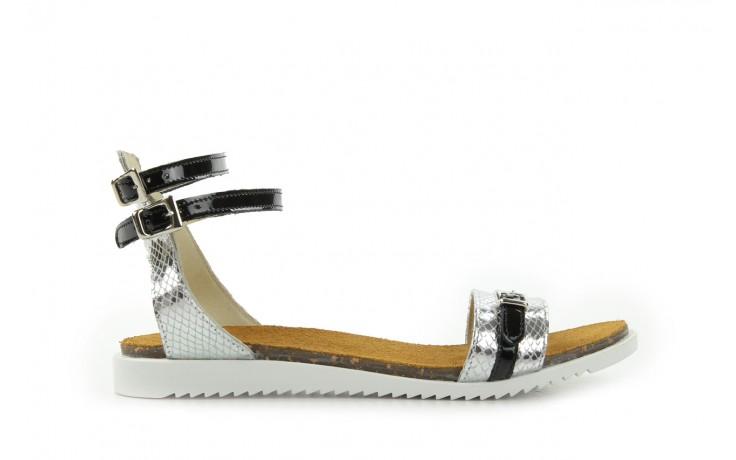Sandały bayla-cs 423 s srebrno czarny, skóra naturalna - bayla - nasze marki