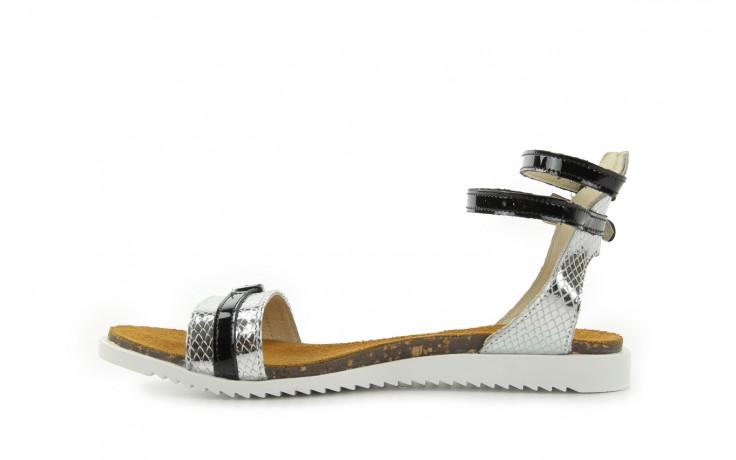 Sandały bayla-cs 423 s srebrno czarny, skóra naturalna - bayla - nasze marki 2