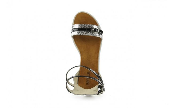 Sandały bayla-cs 423 s srebrno czarny, skóra naturalna - bayla - nasze marki 3