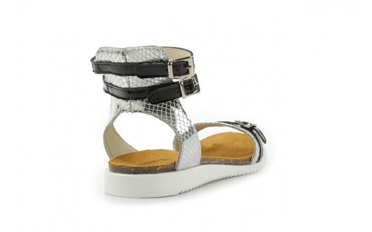 Sandały bayla-cs 423 s srebrno czarny, skóra naturalna - bayla - nasze marki 4