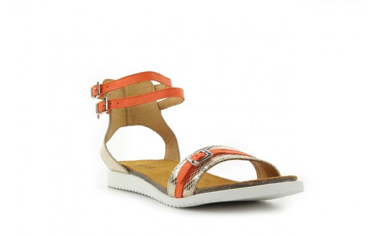 Sandały bayla-cs 423 s złoty pomarańcz, skóra naturalna - bayla - nasze marki 1