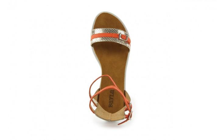 Sandały bayla-cs 423 s złoty pomarańcz, skóra naturalna - bayla - nasze marki 3