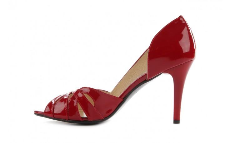 Czółenka bayla-em sl6783-154 czerwony, skóra naturalna lakierowana - bayla - nasze marki 2