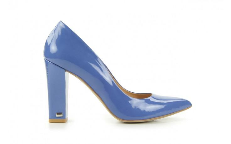 Czółenka bayla-fe 14101 perłowy niebieski, skóra naturalna - bayla - nasze marki