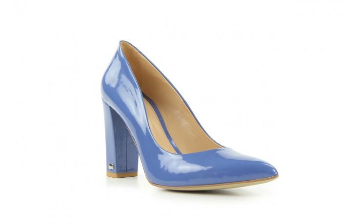 Czółenka bayla-fe 14101 perłowy niebieski, skóra naturalna - bayla - nasze marki 1
