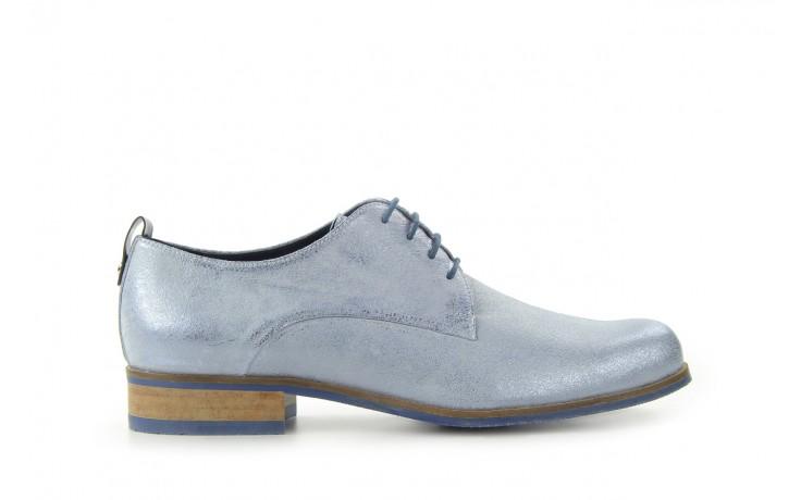 Półbuty bayla-fe 65806 błękitno srebrny-granat, skóra naturalna - na obcasie - półbuty - buty damskie - kobieta