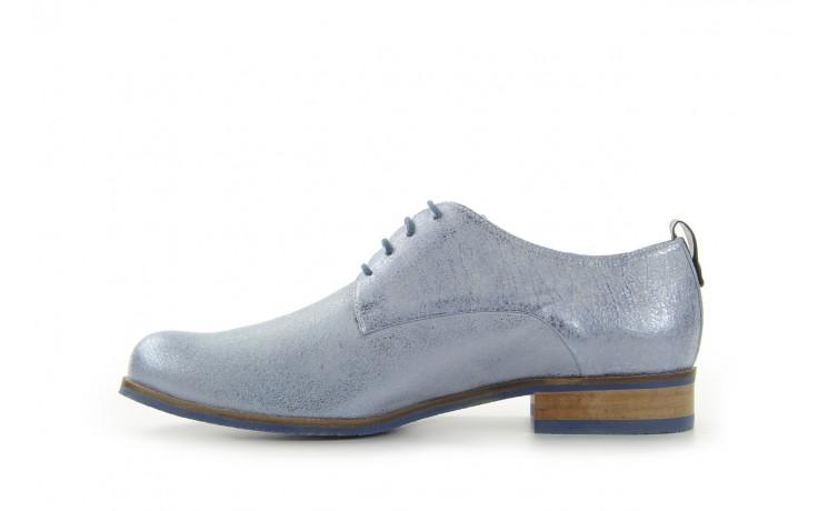 Półbuty bayla-fe 65806 błękitno srebrny-granat, skóra naturalna - na obcasie - półbuty - buty damskie - kobieta 2