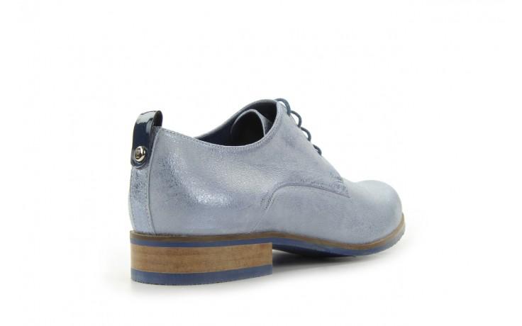 Półbuty bayla-fe 65806 błękitno srebrny-granat, skóra naturalna - na obcasie - półbuty - buty damskie - kobieta 3
