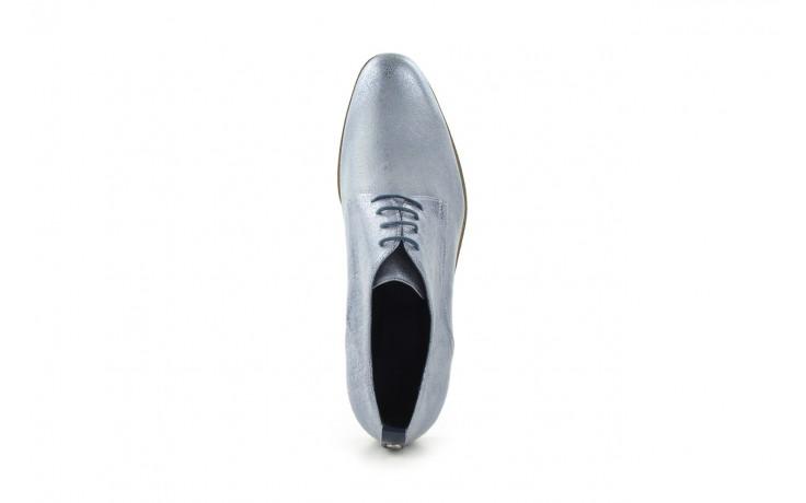 Półbuty bayla-fe 65806 błękitno srebrny-granat, skóra naturalna - na obcasie - półbuty - buty damskie - kobieta 4