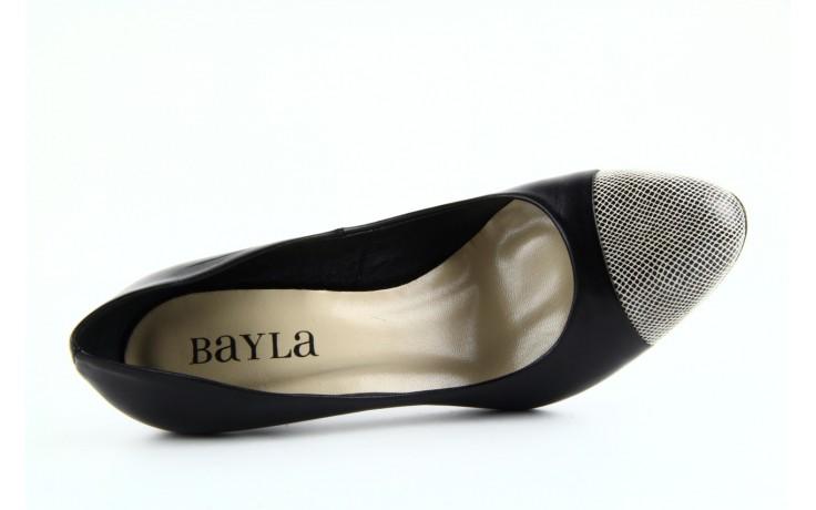 Czółenka bayla-ju 1276 czarny-beż, skóra naturalna - bayla - nasze marki 5