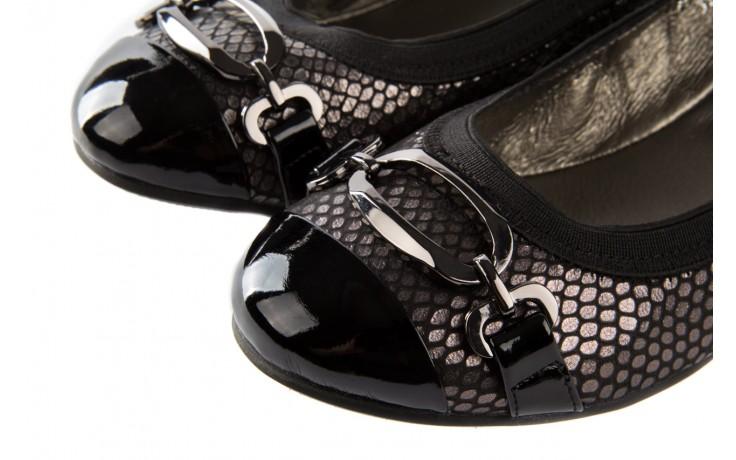 Baleriny bayla-018 1070-133 embosed snake pat. pn pewter black, czarny, skóra naturalna - bayla - nasze marki 5